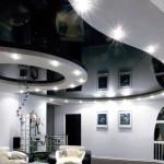 Чёрный натяжной потолок Могилев