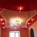 Красный натяжной потолок Могилев