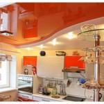 Оранжевый натяжной потолок Могилев
