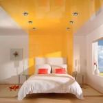 Жёлтый натяжной потолок Могилев
